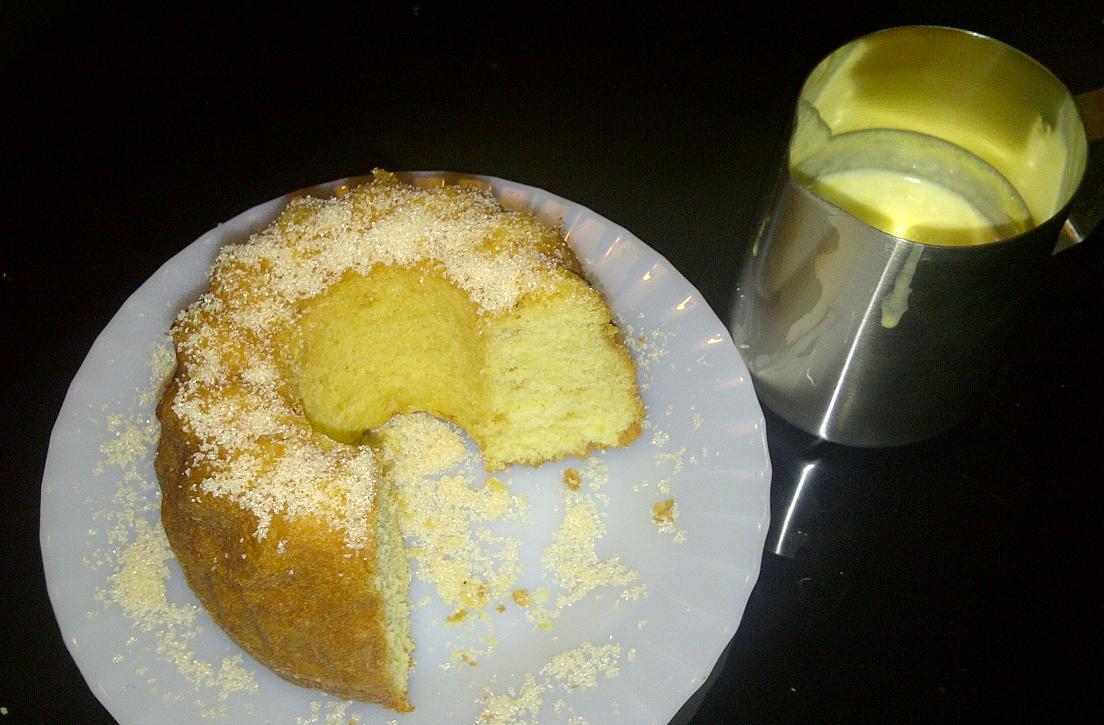 Ciambella al limone mit Zitronencreme