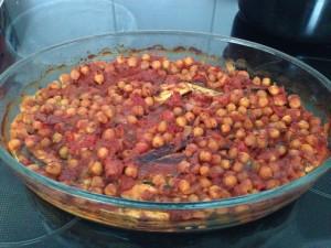 Melanzani-Kichererbsen-Curry aus dem Ofen