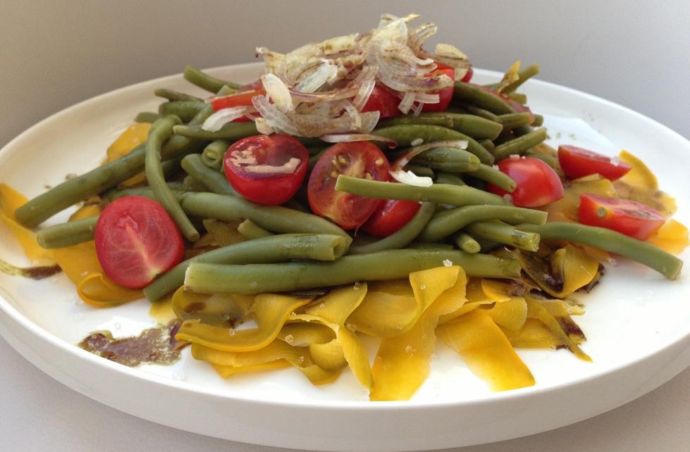 Fisolen-Kürbis-Salat