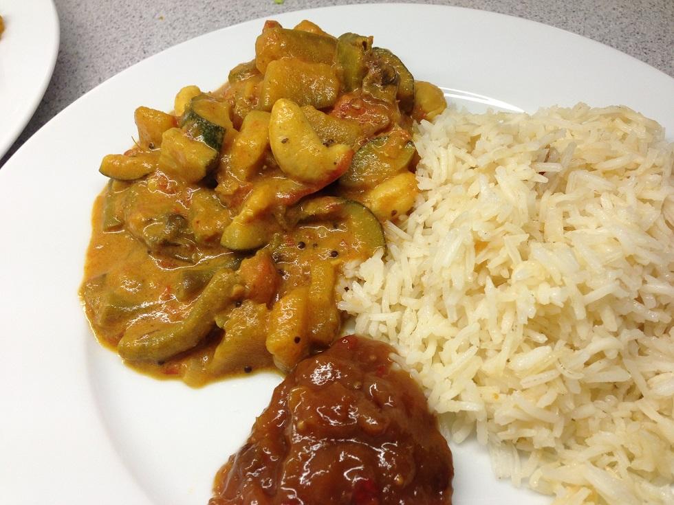 Kürbis-Fisolen-Curry