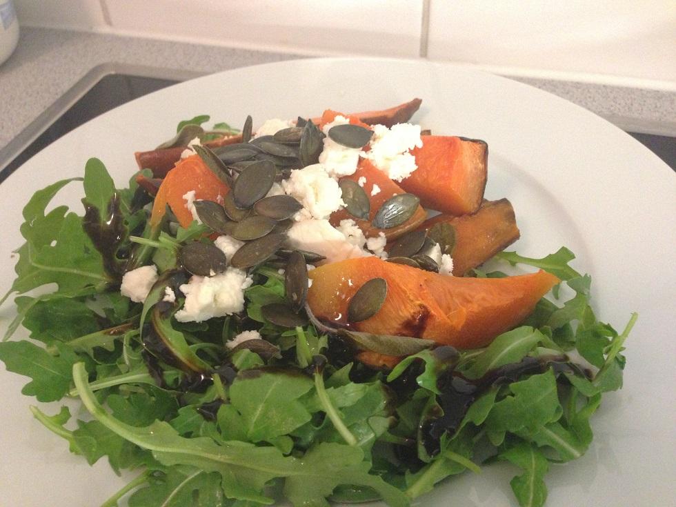 Süßkartoffel-Kürbis-Salat