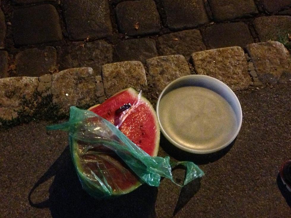 Wassermelone am Steinhof