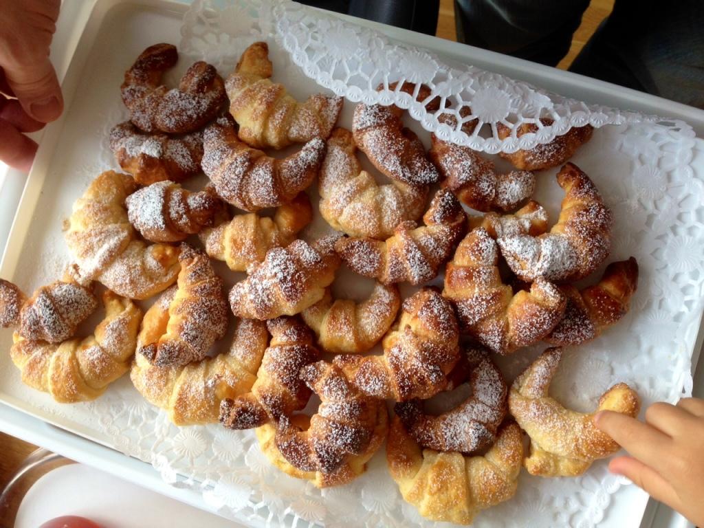 Croissants aus Germ-Blätterteig