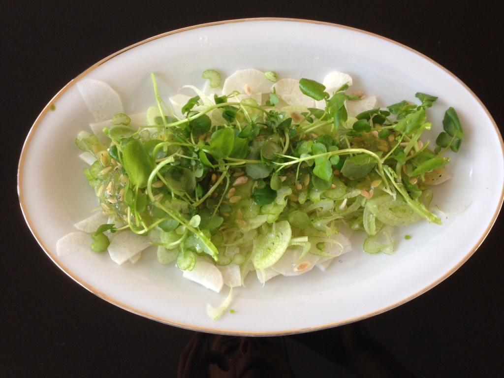 Rettich-Fenchelsalat mit Horngurke