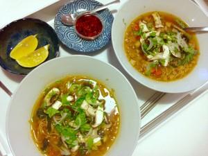 Gemüse-Pho mit Kimchi