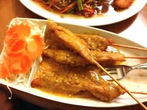 Satay-Spießchen vom Huhn