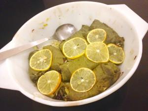 Dolmades mit Meyer Lemons