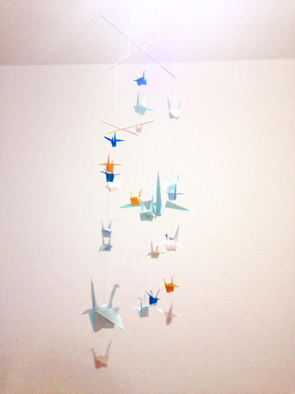 origami kranich mobile phil in wien. Black Bedroom Furniture Sets. Home Design Ideas