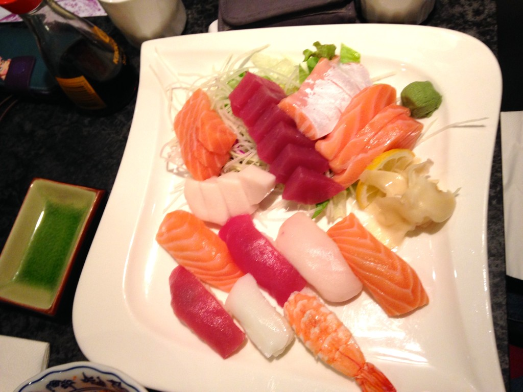Sushi-Sashimi-Platte