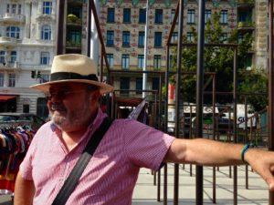 Peter am Beginn der Tour