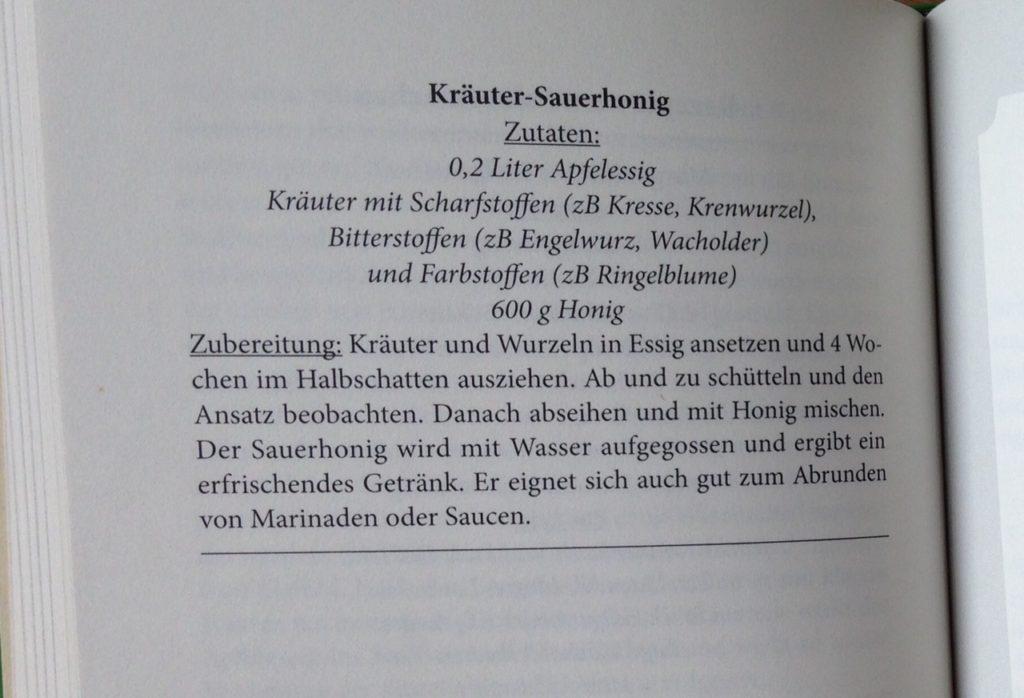 Kräuter-Sauerhonig-Rezept
